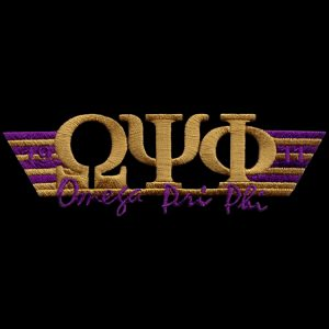 OPP 4 3/4″W Two Tone 3-N-1 Gold W/Purple Emblem W/Heat Seal Backing