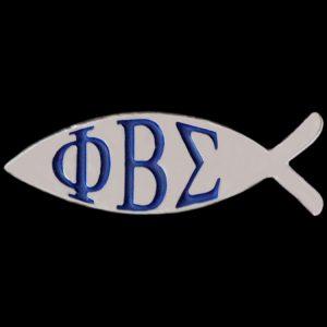 PBS 1″W Fish Lapel Pin