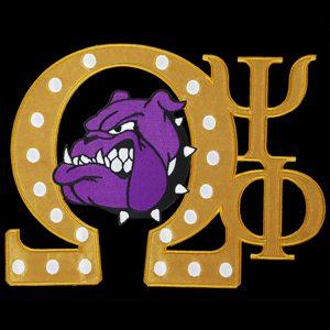 OPP 10 1/2″W Tackle Twill Swag Emblem W/Heat Seal Backing