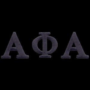 """APA Black Letter Sets 1"""" Emblem W/Heat Seal Backing"""