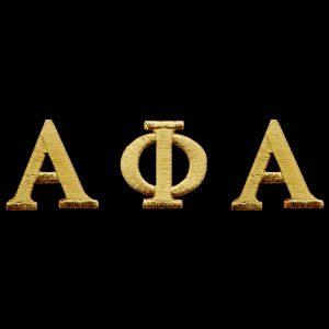 """APA Gold Letter Sets 1"""" Emblem W/Heat Seal Backing"""