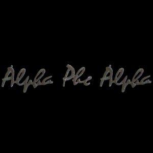 APA Black Small Script Sets Emblem W/Heat Seal Backing