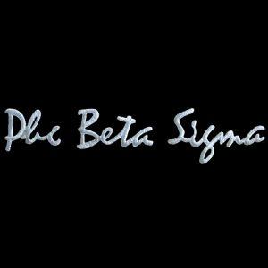 PBS White Small Script Sets Emblem W/Heat Seal Backing