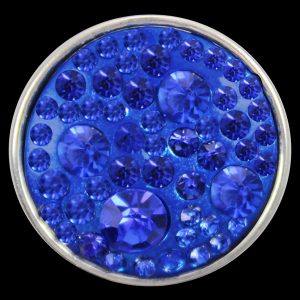 Blue Single Button With Crystals