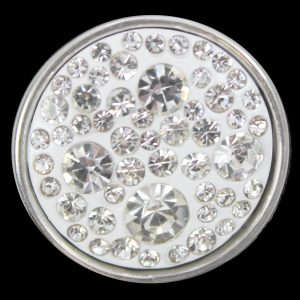 Clear Single Button With Crystals