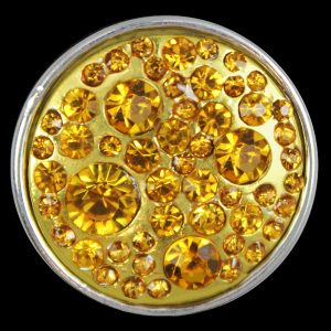 Gold Single Button With Crystals