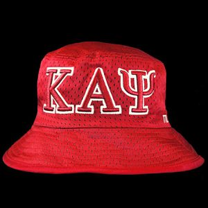 KAP Embroidered Bucket Hat Red/White