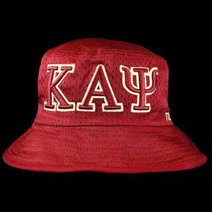 KAP Embroidered Bucket Hat Crimson/Cream