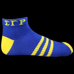 SGR Ankle Socks – Blue With Gold