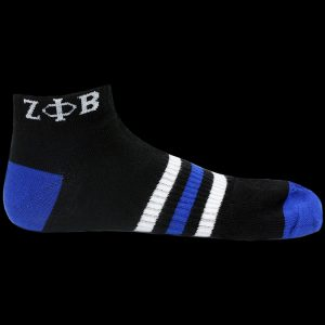 ZPB Ankle Socks – Black With Blue and White