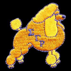 SGR 2″T Gold Poodle Emblem W/Heat Seal Backing