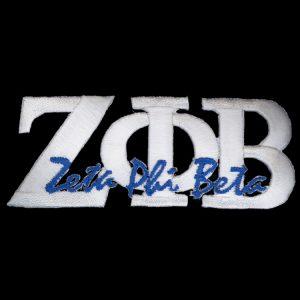 ZPB 1 3/8″ White Signature Emblem W/Heat Seal Backing