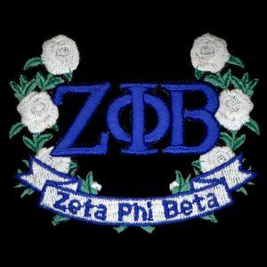 ZPB 2 1/4″ Wreath Emblem W/ Flowers & Heat Seal Backing