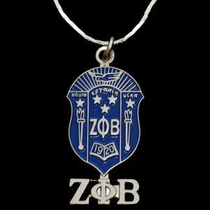ZPB 1″T Shield Pendant W/Chain
