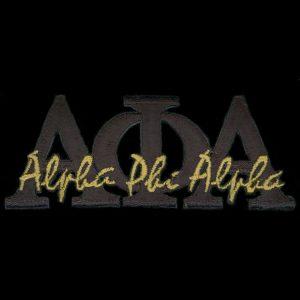 APA 4″T Black Signature Emblem W/Heat Seal Backing