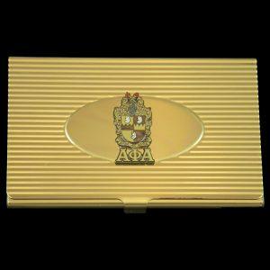 APA Crest Business Card Holder In Gold
