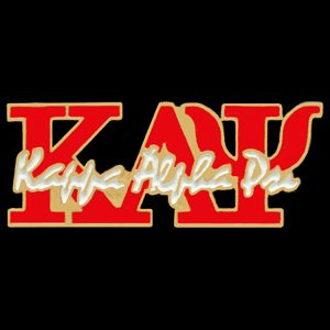 KAP 1″ Signature Lapel Pin In Red/Cream