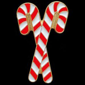 KAP 1″ Candy Cane Lapel Pin