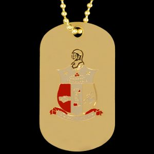 KAP Gold Double-Sided Dogtag W/Chain