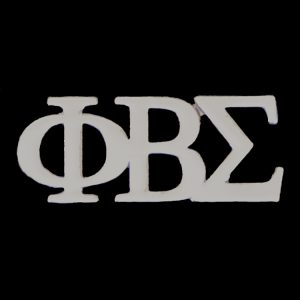 PBS Silver Letters Pin- 1″