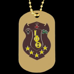 Iota Gold Double-Sided Dogtag W/Chain