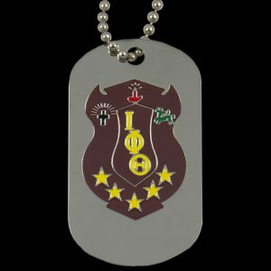 Iota Silver Double-Sided Dogtag W/Chain