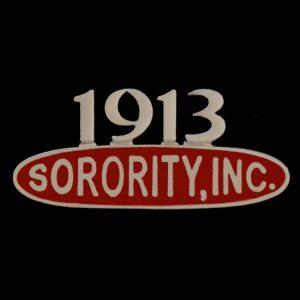 "DST 1"" Sorority Inc Lapel Pin"