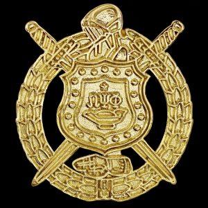 "OPP 1"" Sandblast Gold Shield Pin"