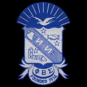 PBS 2 7/8″ Shield Emblem W/Heat Seal Backing
