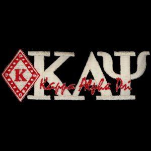 "KAP 1 3/8"" White New Image Diamond Emblem W/Heat Seal Backing"