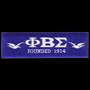 PBS Woven Emblem W/Heat Seal Backing Only Sold In Groups Of 12