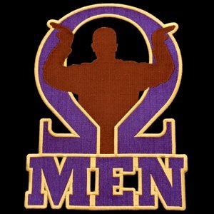 OPP 2 3/4″T Omega Men Emblem W/Heat Seal Backing