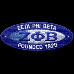 ZPB 4″W Oval Founders Emblem W/Heat Seal Backing