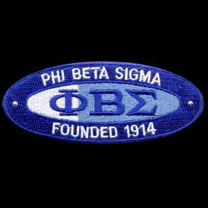 PBS 4″W Oval Founders Emblem W/Heat Seal Backing