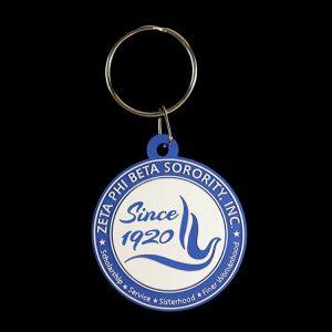 ZPB PVC Round Crest Key Chain