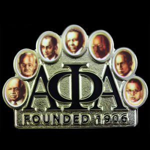 APA 1 3/8″W 7 Jewels Founders Lapel Pin