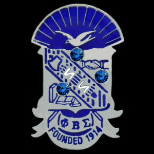 PBS 1″ Shield Lapel Pin With Stones