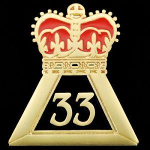 Mason 33rd Degree Crown Lapel Pin