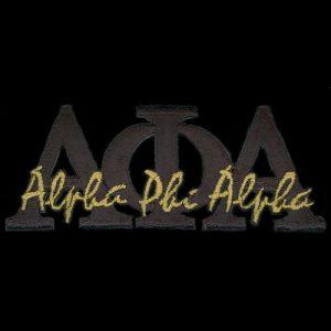 APA 1 3/8″T Black Signature Emblem W/Heat Seal Backing