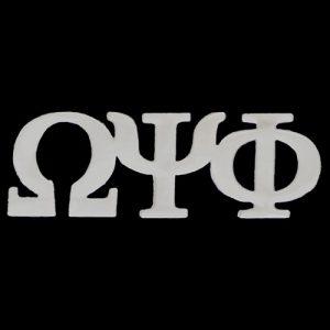 OPP 1″ Silver Letters Lapel Pin