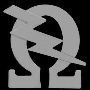 OPP 3/4″ Omega & Bolt Lapel Pin In Silver