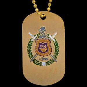OPP Gold Double-Sided Dogtag W/Chain
