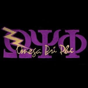 "OPP 1 3/8"" Purple New Image Signature Qbolt Emblem W/Heat Seal Backing"