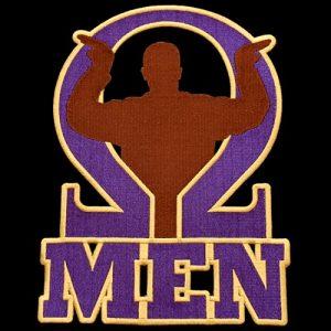 OPP 4″T Omega Men Emblem W/Heat Seal Backing