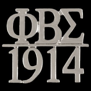 PBS/1914 Chapter Bar Lapel Pin In Silver