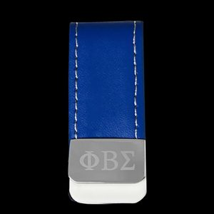 PBS Leather Money Clip W/Laser Engraved Logo