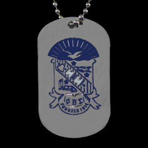 PBS Silver Double-Sided Dogtag W/Chain
