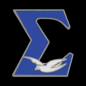 PBS 3/4″ Royal Sigma W/Dove Lapel Pin