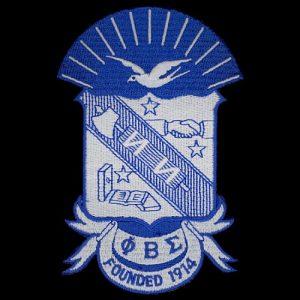 """PBS Shield Emblem W/Heat Seal Backing-10 1/2 """""""