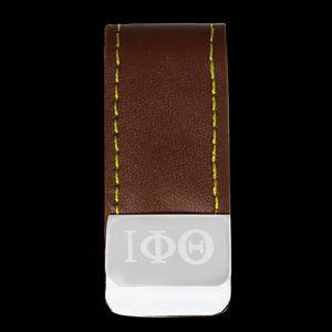 IPT Leather Money Clip W/Laser Engraved Logo
